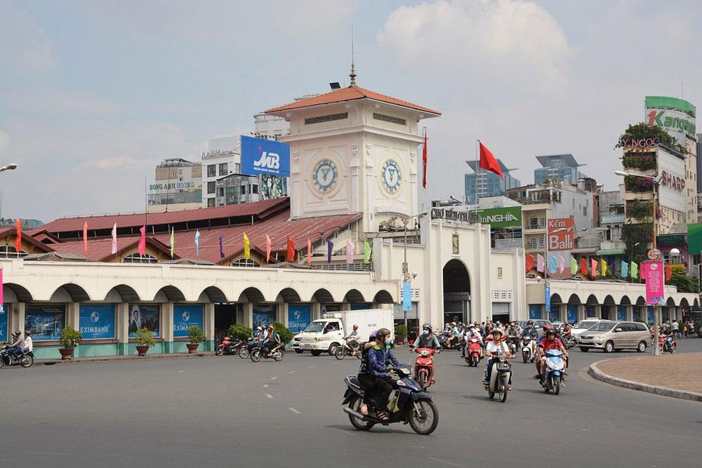 Le marché de Ben Tanh à Saigon