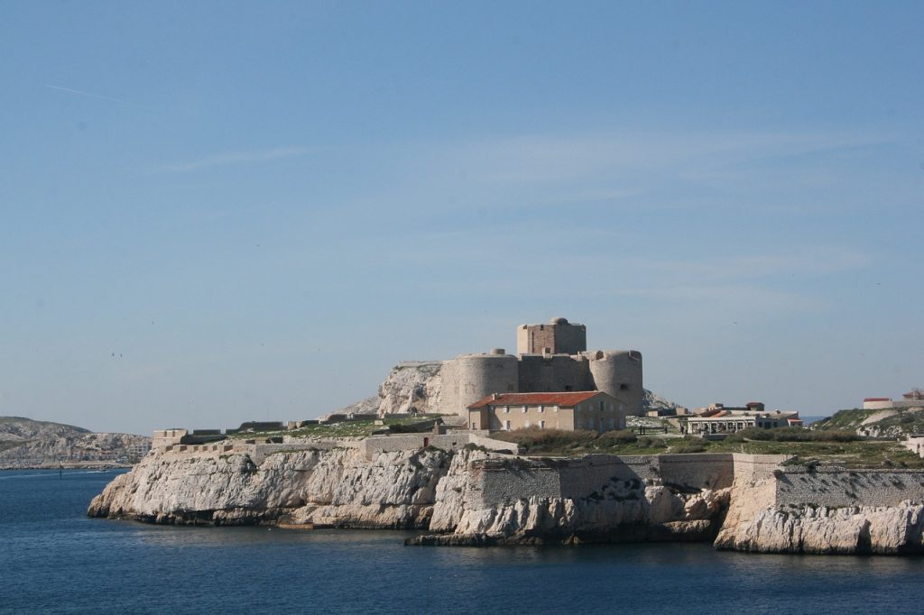 Le château d'If, Marseille côté mer.