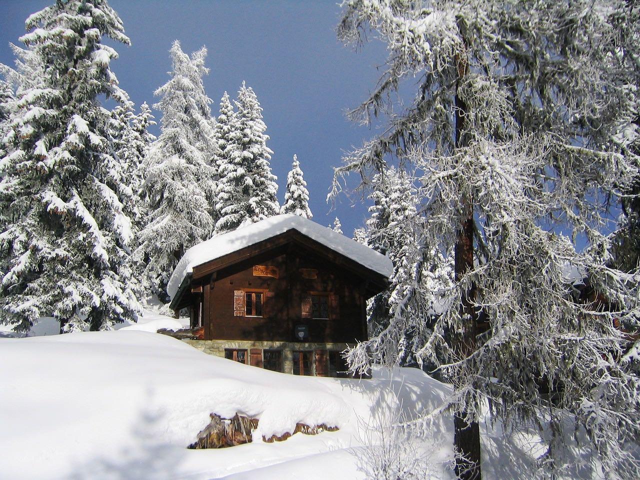 Un chalet pour un Noël dans les Alpes