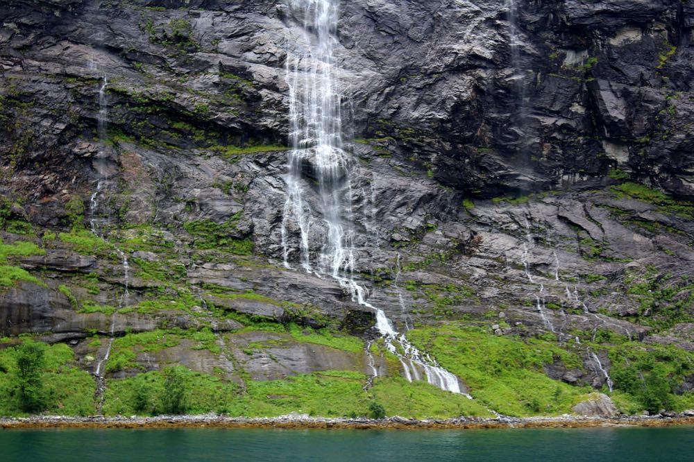 La cascade des Sept Soeurs en Norvège