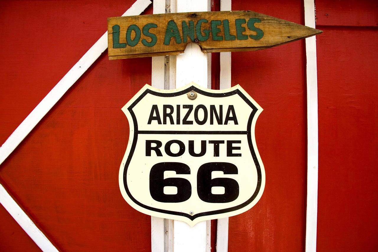 Vieux panneau en Arizona